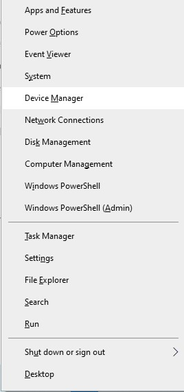 Install PC Bluetooth Adapter - open device manager