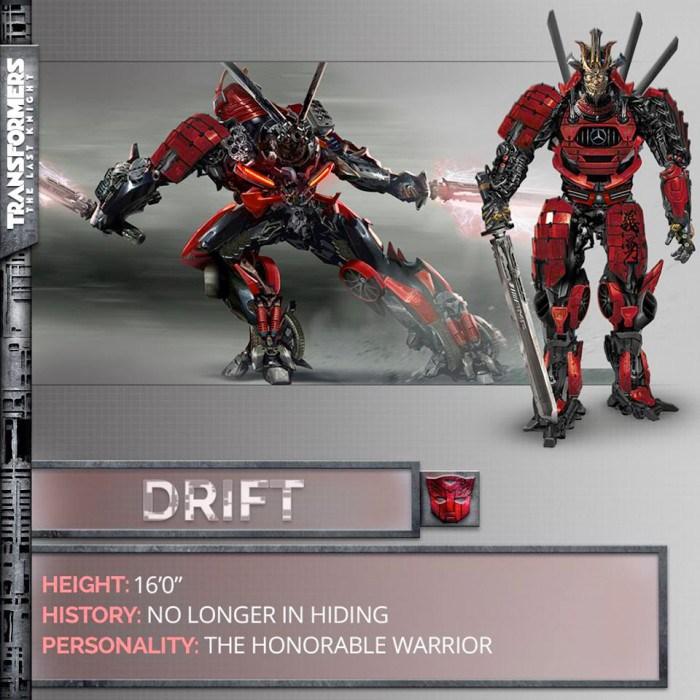 Transformers The Last Knight Drift