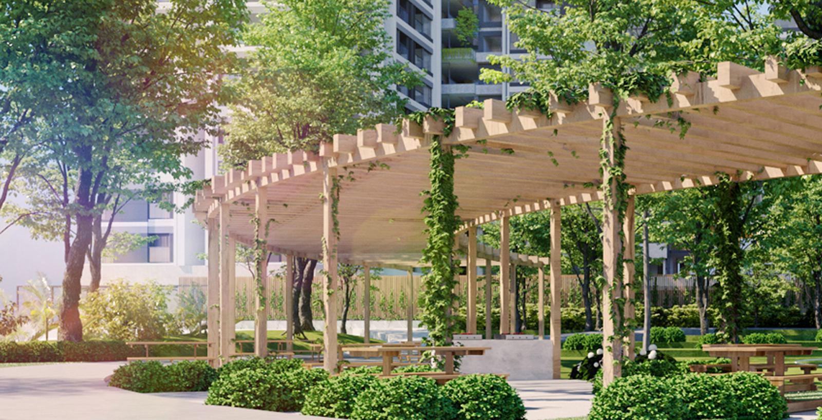 Công viên và sân vườn thư giãn tại dự án Aio City Bình Tân
