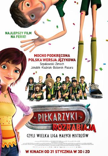 Polski plakat filmu 'Piłkarzyki Rozrabiają'
