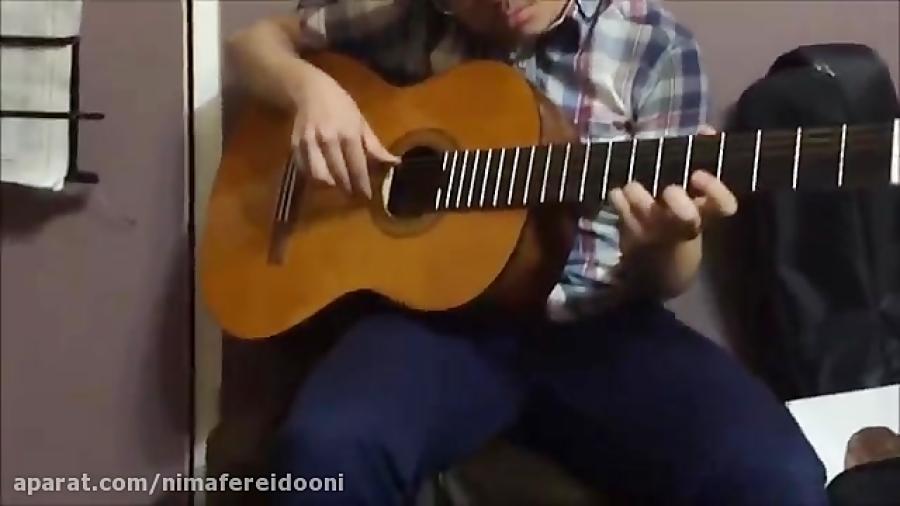 سینا رحیمی آشتیانی هنرجوی گیتار دوره متوسطه فرزین نیازخانی
