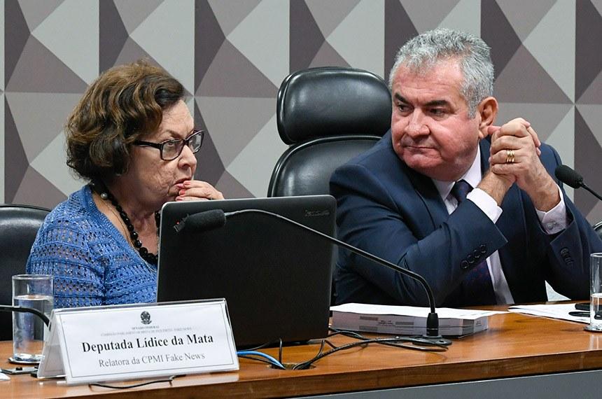 CPMI da Fake News apura uma rede de produção e propagação de notícias falsas e o assédio virtual nas redes sociais. (Fonte: Agência Senado/Roque de Sá/Reprodução)