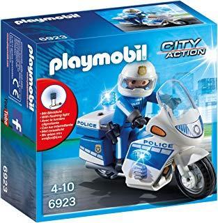 Playmobil Policía - Policía con Moto y Luces LED (6923)