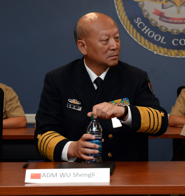 Commander in Chief of the People's Liberation Army (Navy) Adm. Wu Shengli on Spet. 18, 2014. US Navy Photo