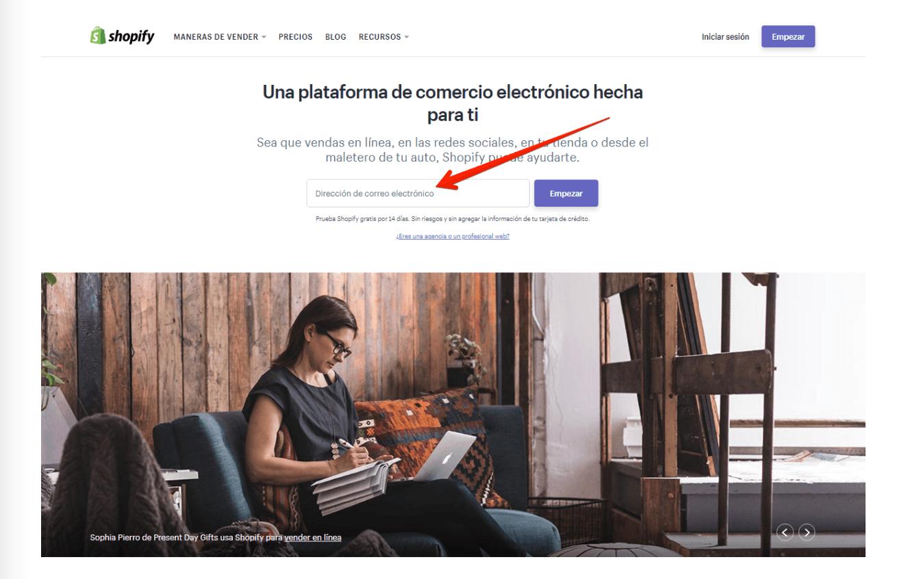 Shopify Regisstro