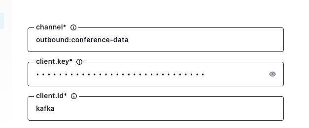 how to configure sending data from Kafka into Ably via the Ably Kafka Connector