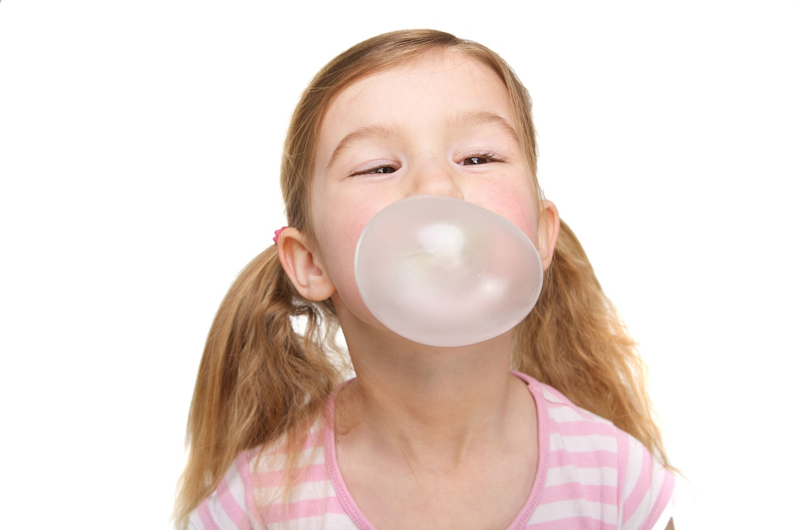 Image result for blowing bubble gum