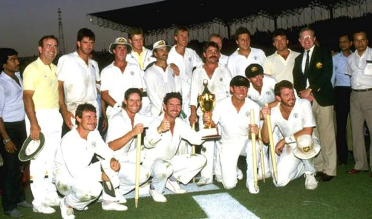 Aussies won the first world cup hosted in India