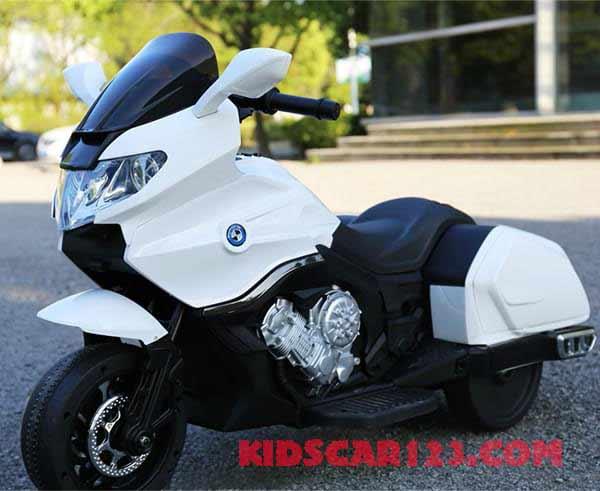 Moto điện trẻ em CX6066 màu trắng