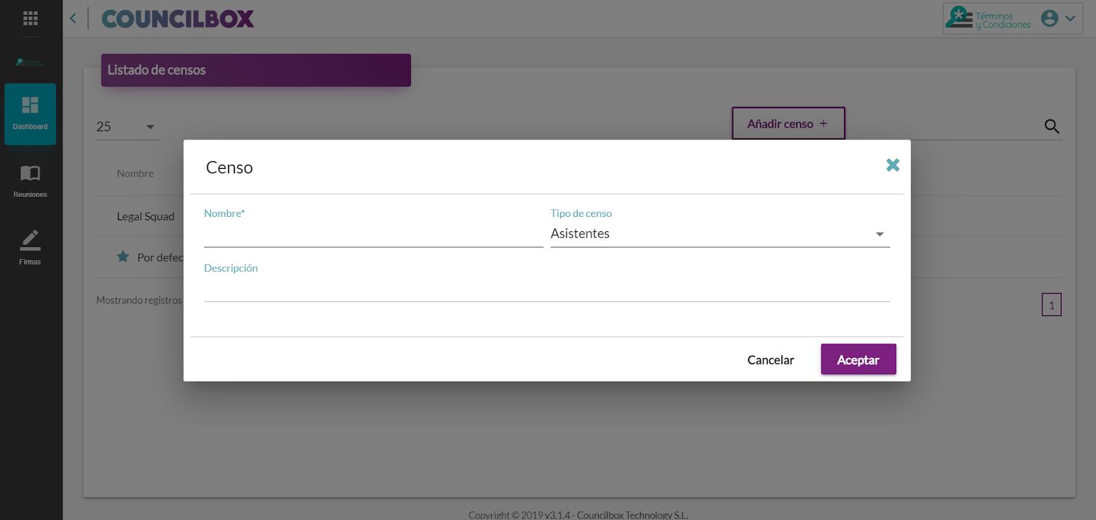 Cómo añadir un censo en Councilbox