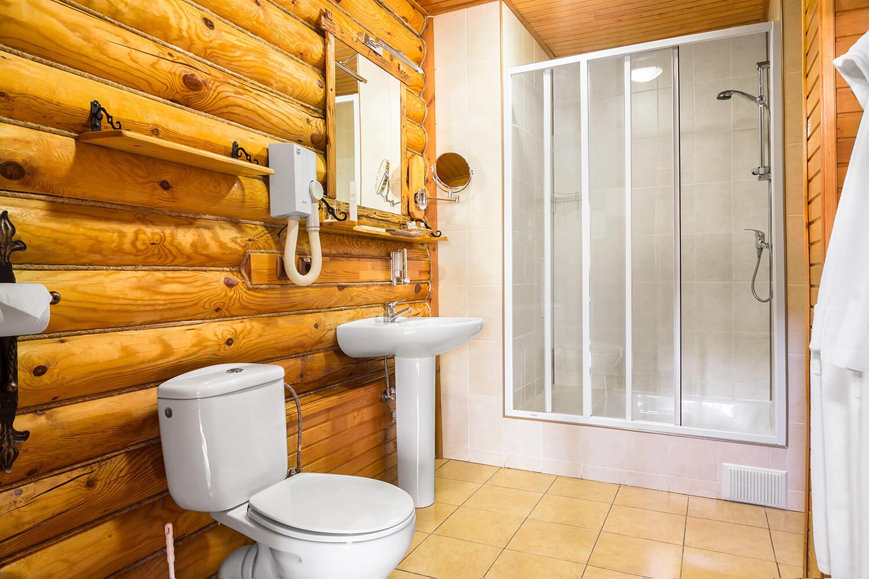 Ванная комната в номере Полулюкс