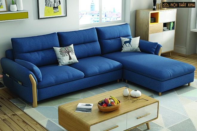 Bộ sofa sau khi đã được làm sạch
