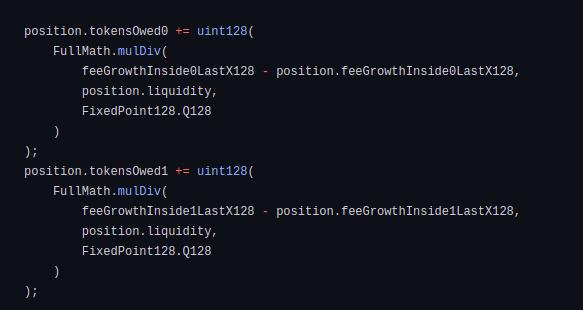 Code block for fee calculation (ii)