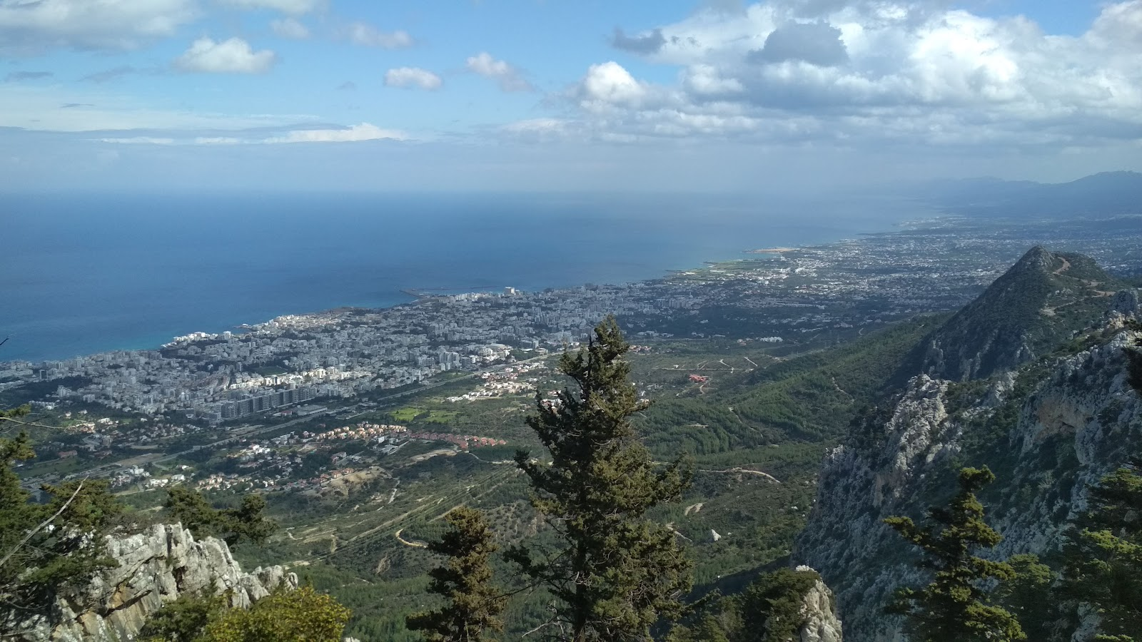 A picture from one of the high points on the island of Cyprus in Girne.