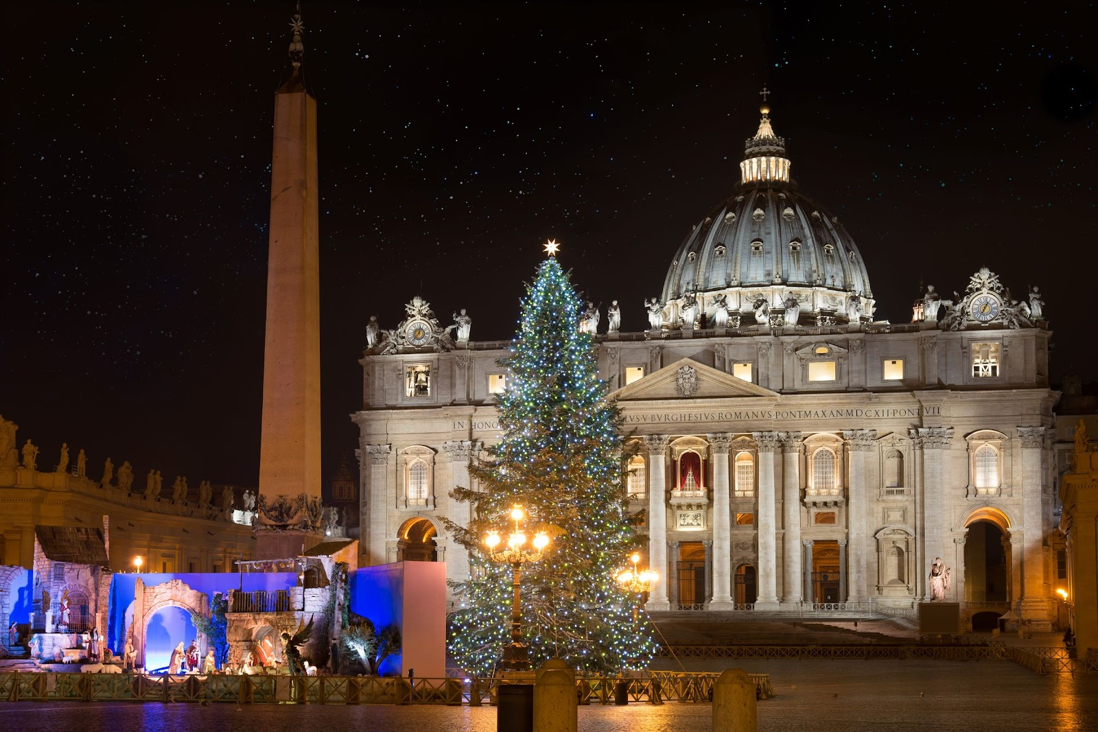 St. Peter's Square Christmas tree in Vatican City
