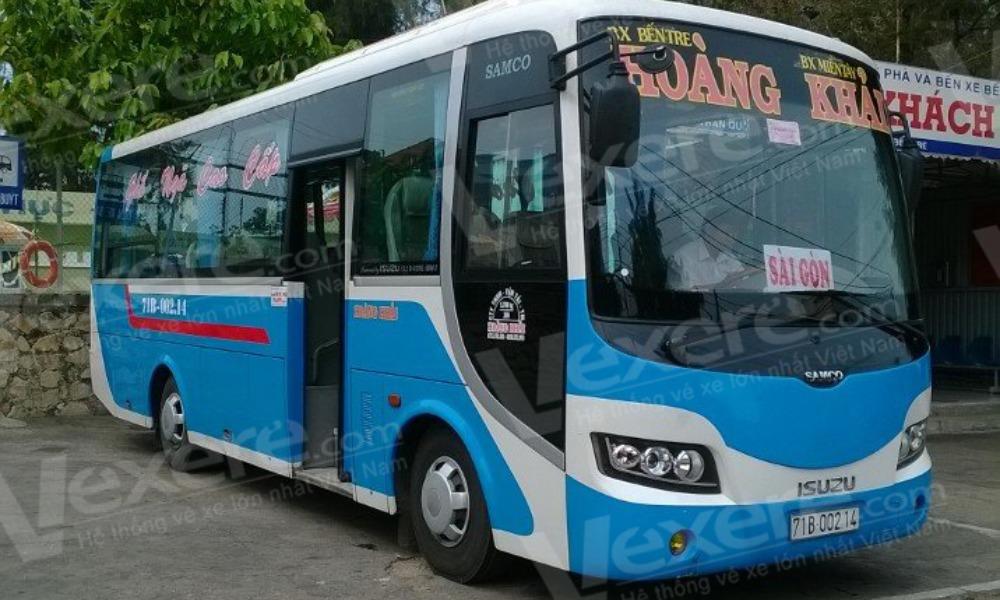 Xe Hoàng Khải từ Sài Gòn đi Bến Tre