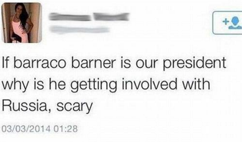 If barraco barner is our president why is he getting involved with Russia, scary