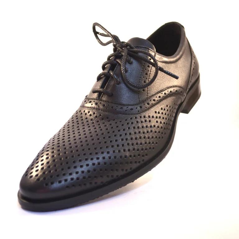 Летние мужские туфли кожаные черные в сеточку Rosso Avangard BS Felicite Black Perf Подробнее: