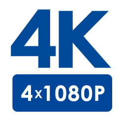 4K Ultra HD Resolution (4×1080p Full HD)
