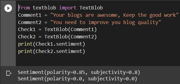 using textblob and twitter API for sentiment analysis of Twitter tweets