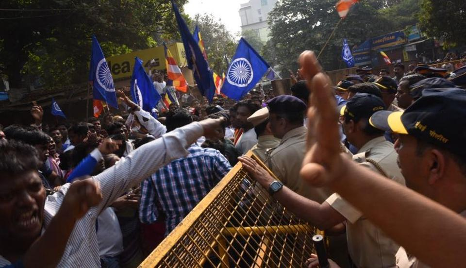 Image result for mumbai dalits violence