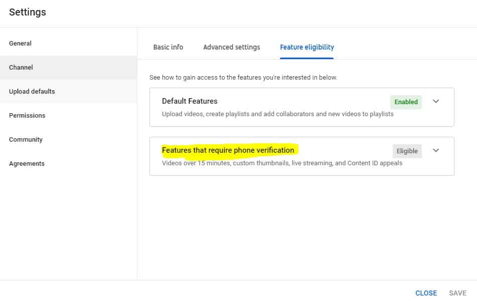 Phone verification to verify youtube account