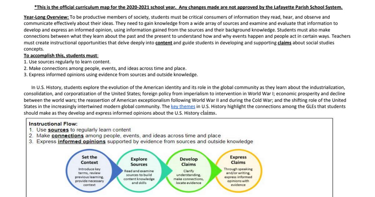 Us History Curriculum Map 2018 2019docxpdf Google Drive - Us-history-curriculum-map
