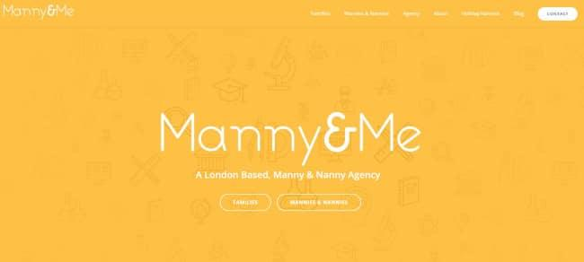 manny and me homepage - avada theme example