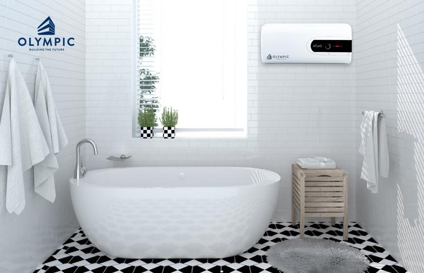 Bình nóng lạnh ngang - Thiết kế phù hợp cho phòng tắm