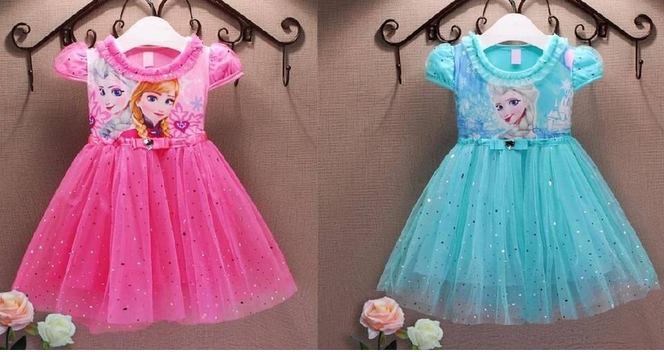 Sukienka Elsy dla dziewczynki - sukienki dla dziewczynek z Krainy Lodu