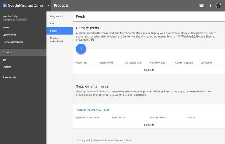 Google Merchant Account