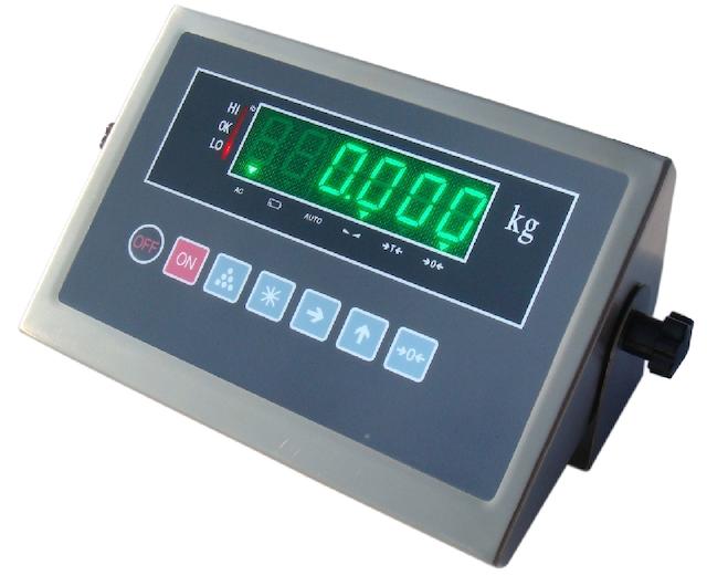 Đầu cân điện tử hiển thị về số liệu trọng lượng của đồ vật cần cân