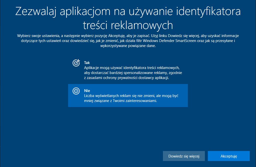 profilowanie reklam Microsoft