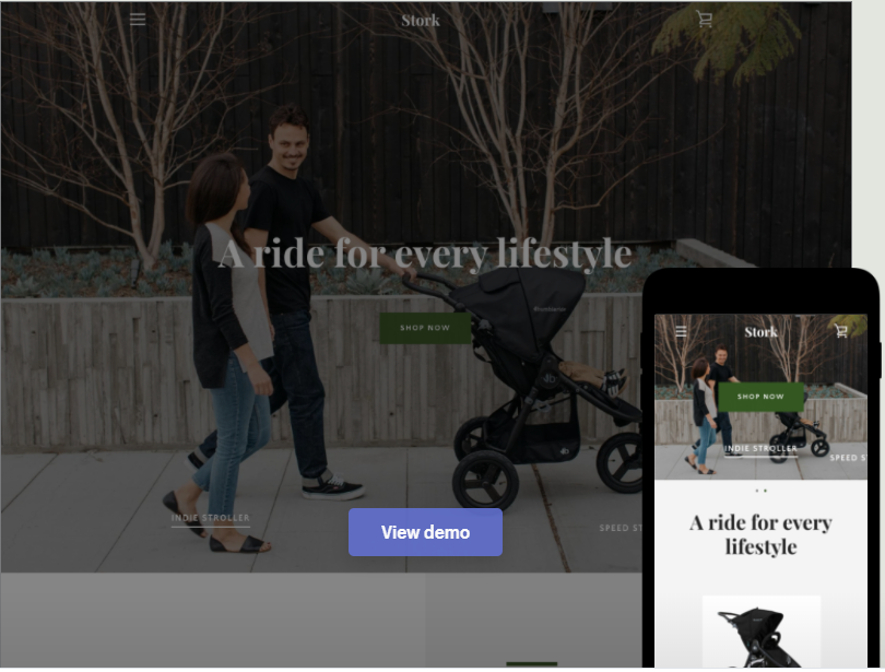 shopify free theme: Narrative - Earthy style