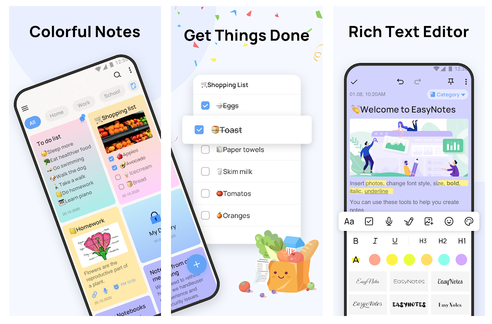 notes app android Easy Notes play store picture