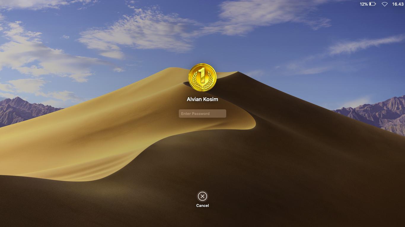 Lock screen macOS Mojave 10.14 Alvian Kosim Lenovo G400