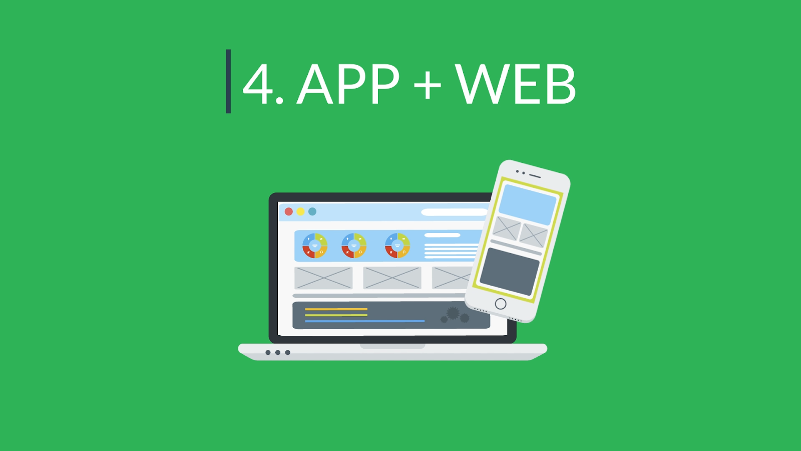 """Header image labeled """"4. App + Web"""""""