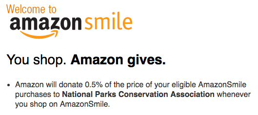 Amazon Smile National Parks Conservation Association