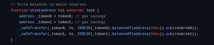 skim code