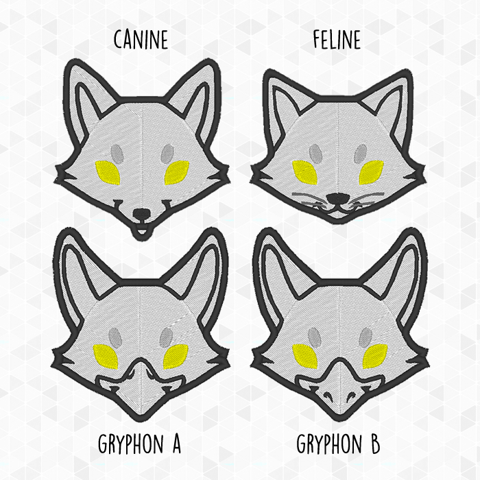 Commission (Selling): - Custom Fursona Face Patches | Fur Affinity ...