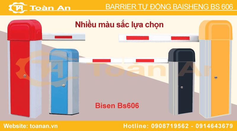 Các phiên bản màu sắc của barrier tự động baisheng bs 606.