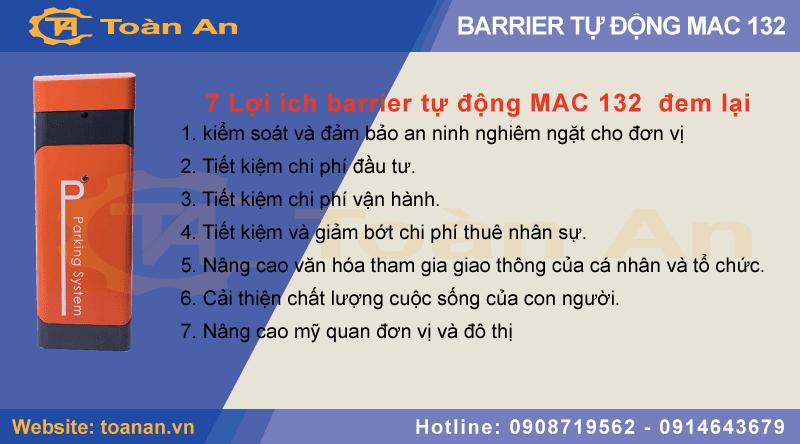 7 lợi ích mà barrier tự động mac 132 đem lại