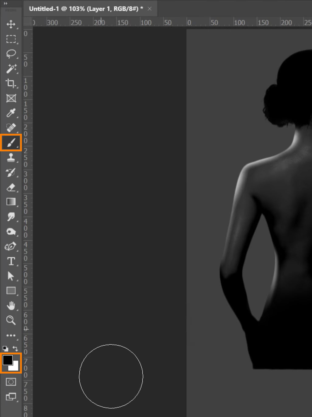 Set your Foreground color to black