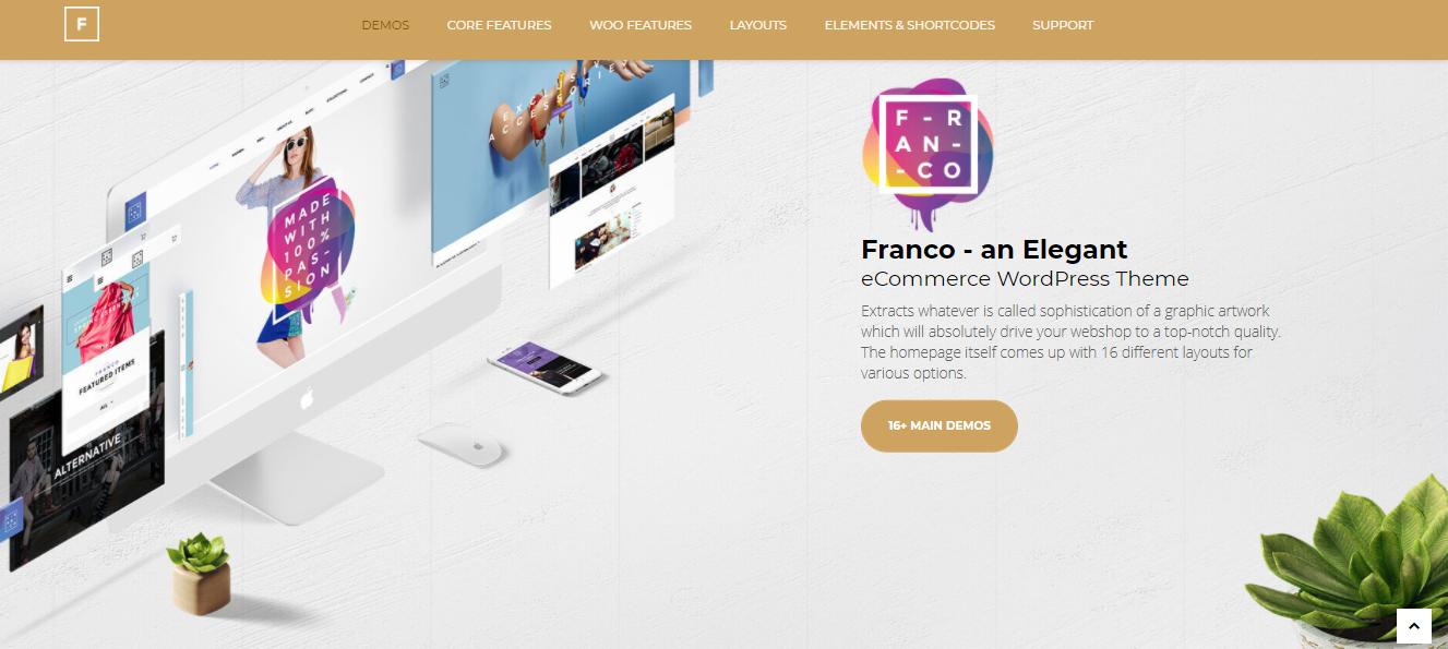Franco - fashion ecommerce wordpress themes