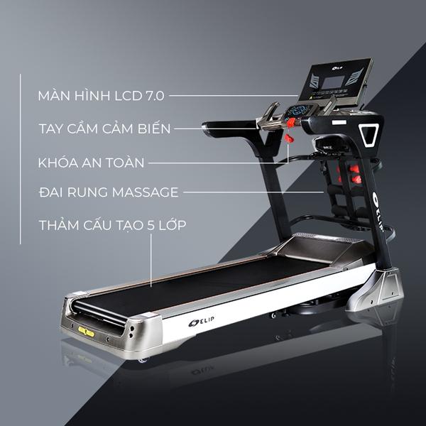 Top 5 máy chạy bộ chất lượng và tốt nhất của thương hiệu Elipsport - Ảnh 1