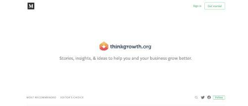 A screenshot of ThinkGrowth Blog