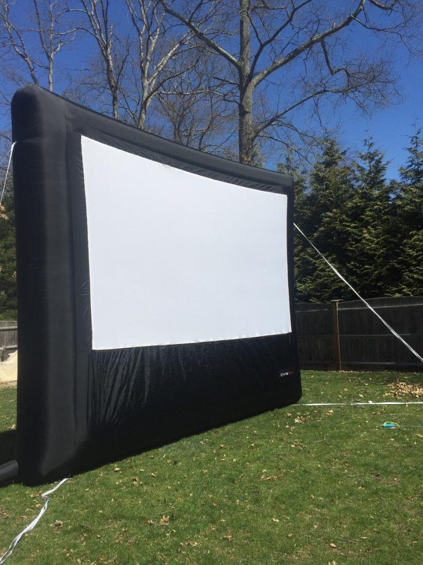 inflatable movie screen, Inflatable Movie Screen at College Orientation, Press Play Outdoors Blog