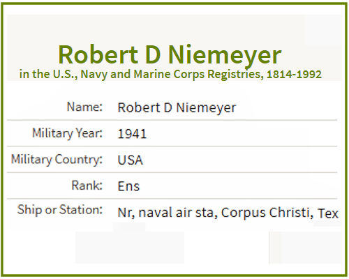 Roberet D Niemeyer Navy Register 1941.jpg