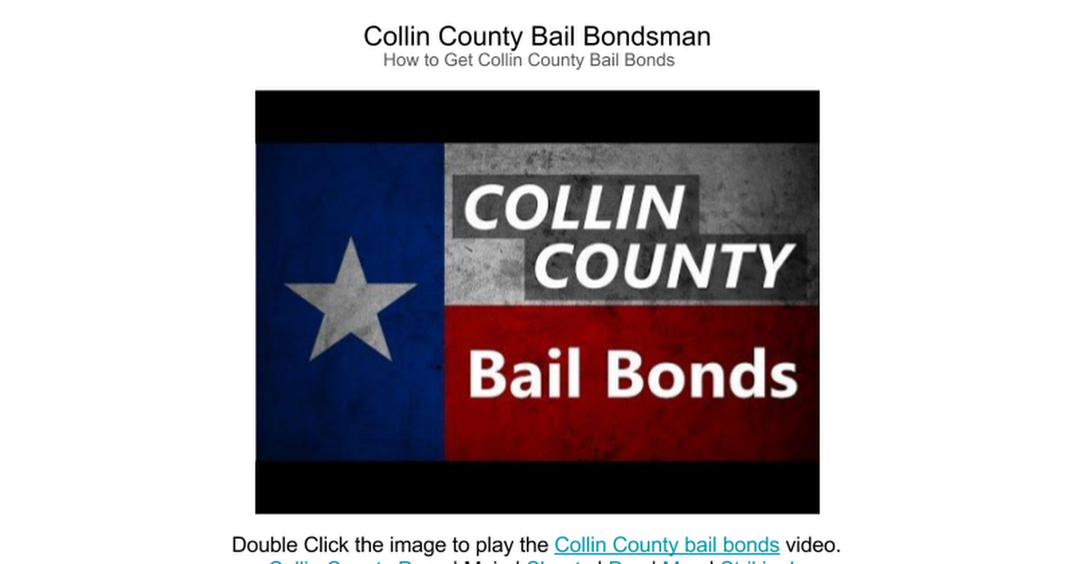 Thumbnail for Collin County Bail Bonds Video
