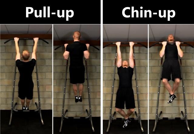 Sự khác nhau cơ bản giữa pull up và chin up